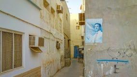 Cartel político en Muharraq, Bahrein fotos de archivo