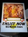 Cartel promocional, museo del USMC Fotos de archivo
