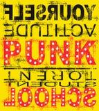 Cartel punky amarillo de la música Foto de archivo libre de regalías