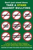 Cartel que tiraniza anti Foto de archivo