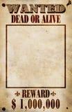 Cartel querido - recompensa del dólar Fotos de archivo