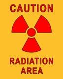 Cartel radiactivo Fotos de archivo