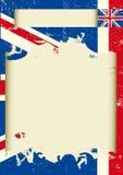 Cartel rasguñado Reino Unido Imágenes de archivo libres de regalías