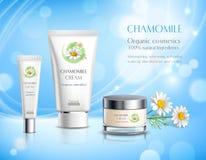 Cartel realista del anuncio de los productos de los cosméticos ilustración del vector