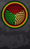 Cartel retro abstracto - tarjeta - colores de Jamaica stock de ilustración
