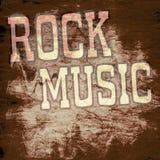 Cartel retro de la música Imagen de archivo libre de regalías