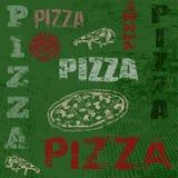 Cartel retro de la pizza Imagenes de archivo
