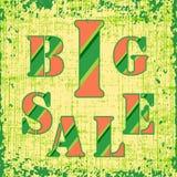 Cartel retro de la venta grande Imagen de archivo libre de regalías