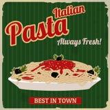 Cartel retro de las pastas italianas Fotografía de archivo libre de regalías