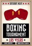 Cartel retro del boxeo Imagen de archivo libre de regalías