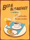 Cartel retro del hotel stock de ilustración