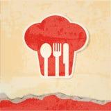Cartel retro del menú del restaurante Imagen de archivo