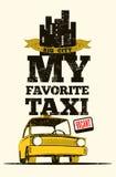 Cartel retro del taxi Imagen de archivo libre de regalías