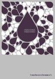 Cartel retro del vector abstracto stock de ilustración