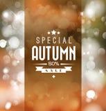 Cartel retro del vector de la venta del otoño Fotografía de archivo