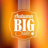 Cartel retro del vector de la venta del otoño Foto de archivo