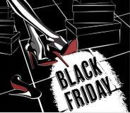 Cartel retro negro de viernes Fotografía de archivo