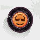 Cartel retro tipográfico de la cerveza del grunge Ilustración del vector Imagenes de archivo