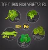 Cartel rico en hierro de las comidas ilustración del vector