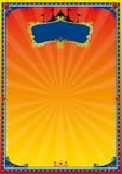 Cartel rojo y amarillo del circo Fotos de archivo libres de regalías