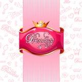 Cartel rosado del priness stock de ilustración