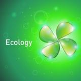 Cartel sobre la ecología Imagen de archivo