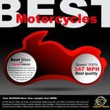 Cartel sobre las motocicletas Imagen de archivo libre de regalías