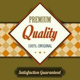 Cartel superior de la calidad, diseño retro del vintage Foto de archivo