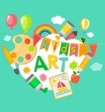 Cartel temático del arte de los niños libre illustration