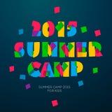Cartel temático del campamento de verano del viaje Imágenes de archivo libres de regalías