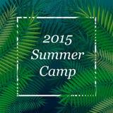 Cartel temático del campamento de verano del viaje Foto de archivo libre de regalías