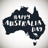 Cartel tipográfico de Australia del día feliz de la república Imagen de archivo