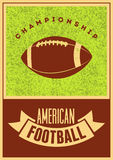 Cartel tipográfico del estilo del grunge del vintage del fútbol americano Ilustración retra del vector Fotografía de archivo