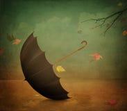 Cartel tres del otoño Fotografía de archivo