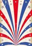Cartel tricolor del vintage Imagen de archivo libre de regalías