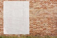 Cartel vacío en la pared Fotografía de archivo