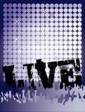 Cartel vivo del concierto Fotos de archivo libres de regalías