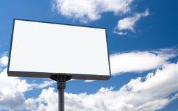 Cartelera blanca Imagen de archivo libre de regalías