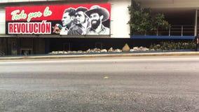 Cartelera comunista Havana Cuba Street de la propaganda almacen de metraje de vídeo