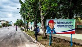 Cartelera cubana en Havana Promoting Sports Programs Fotos de archivo libres de regalías