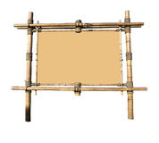 Cartelera de bambú (con el camino de recortes) fotografía de archivo libre de regalías
