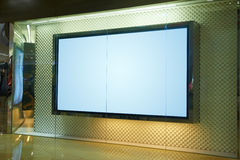 Cartelera de lujo del espacio en blanco de la ventana de la tienda Foto de archivo libre de regalías