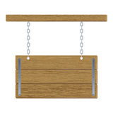 Cartelera de madera stock de ilustración