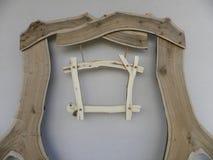 Cartelera de madera Imágenes de archivo libres de regalías