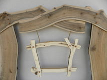 Cartelera de madera Fotos de archivo libres de regalías