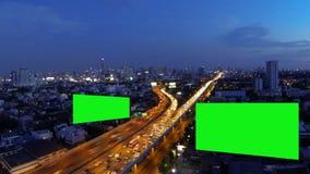 Cartelera de publicidad, pantalla verde, lapso de tiempo metrajes