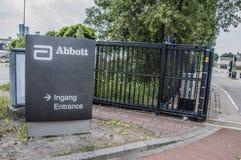 Cartelera del Abbott Company Imagen de archivo libre de regalías