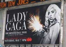 Cartelera del concierto de señora Gaga Fotos de archivo