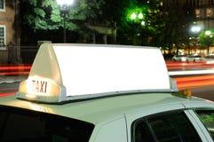 Cartelera del taxi Foto de archivo
