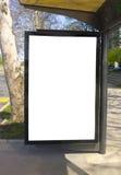 Cartelera en blanco Foto de archivo